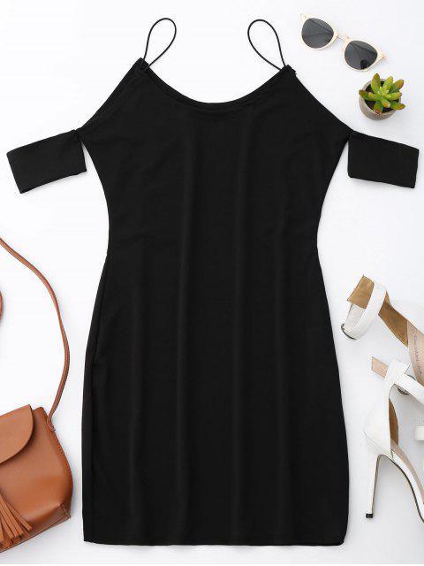 Robe à bretelles spaghetti à épaules dénudées - Noir M Mobile