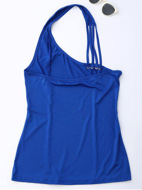shops Halter Strappy Tank Top - ROYAL M Mobile