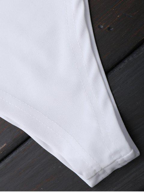Combinaison à volants à épaule - Blanc XL Mobile