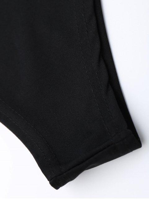 Combinaison à volants à épaule - Noir XL Mobile