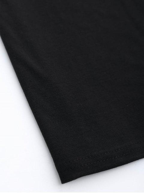 affordable Choker Shift T-Shirt Dress - BLACK L Mobile