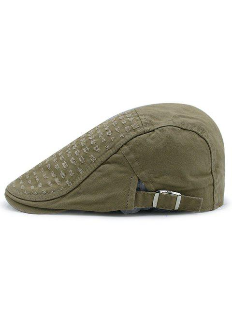 online Tiny Frayed Holes Embellished Newsboy Hat - ARMY GREEN  Mobile