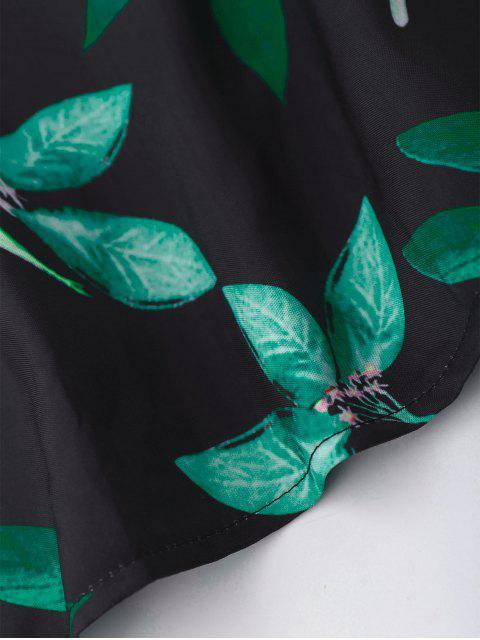 Feuille imprimée feuilles et oiseaux - Multicolore TAILLE MOYENNE Mobile