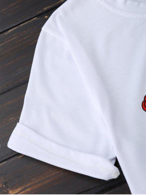 sale Nothing Rose Short Sleeve T-Shirt - WHITE S Mobile
