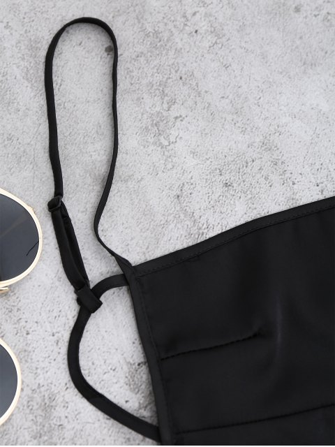 Mini Robe Lisse Dos Nu - Noir S Mobile