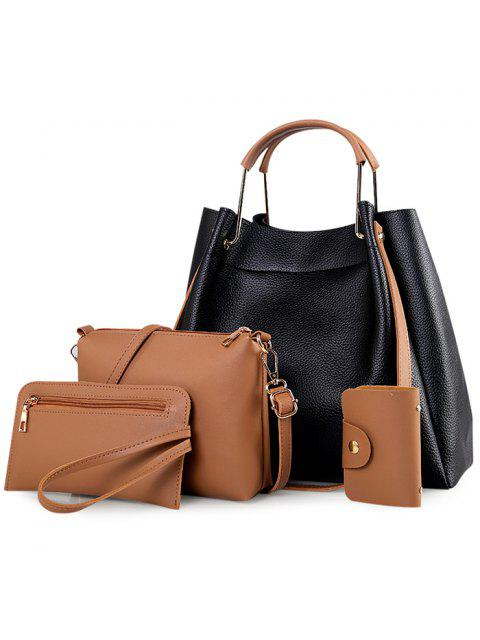women 4 Pieces Metal Handle Tote Bag Set -   Mobile
