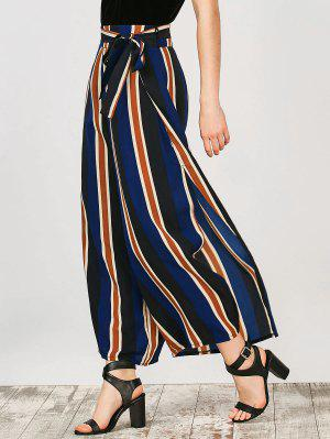 Striped Wide Leg Palazzo Pants - Stripe L