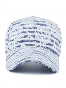 ... Floral Lace Striped Baseball Hat ...