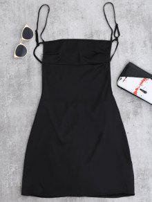فستان عارية الظهر مصغر - أسود M