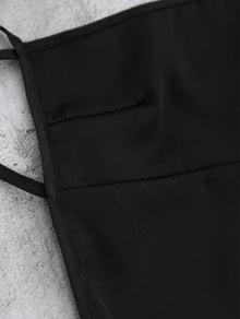 De Slip S Espalda Negro Vestido Mini BqxSR11