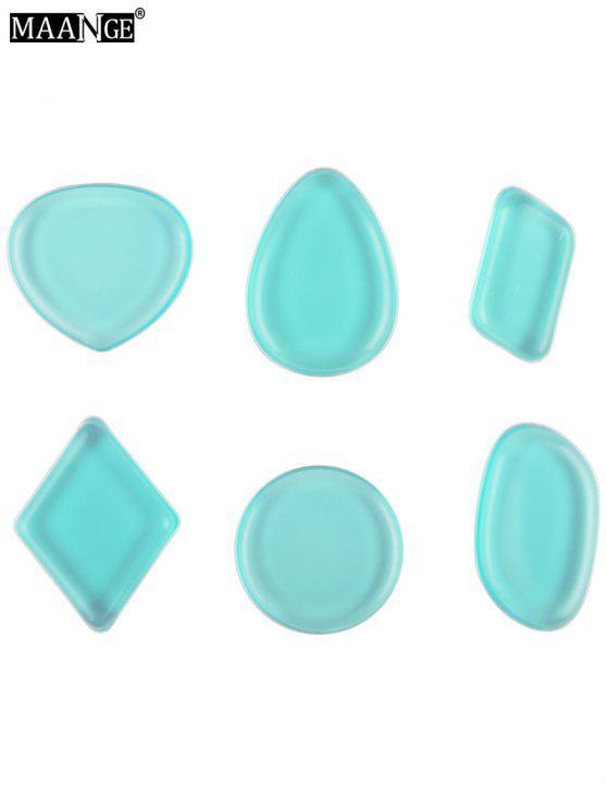 مانج 6 قطع شكل مختلف سيليكون الإسفنج ماكياج - أزرق