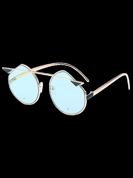 القط العين المعادن عاكسة قطع النظارات المتطابقة - GLOD الإطار + عدسة الأخضر المزرق.