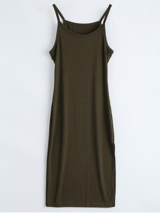 Costine fessura Vestito aderente Serbatoio - Verde Dell'esercito M