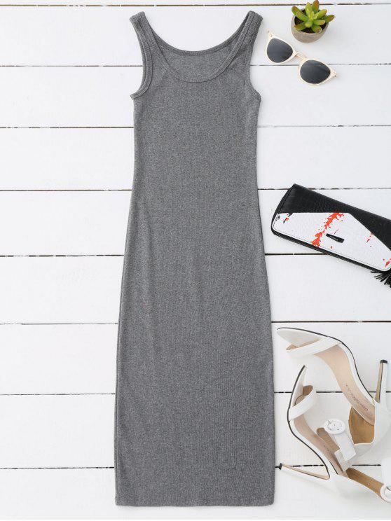 affordable Racerback Midi Bodycon Dress - GRAY ONE SIZE