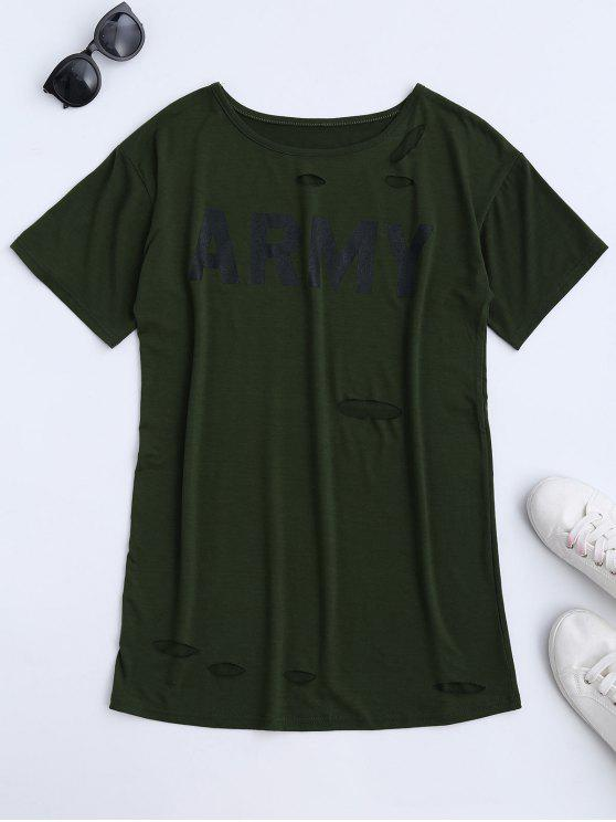 Vestido para hombre de la camiseta del ejército - Verde del ejército L