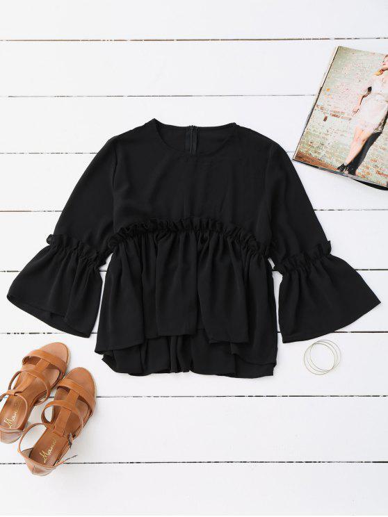 Blusa de la blusa de la colmena - Negro S