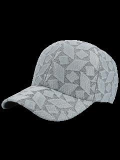 Argyle Lace Curving Brim Baseball Hat - Gray