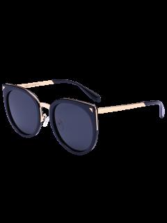 Gafas De Sol De La Barra Transversal De La Aleación Del Ojo De Gato - Doble Negro