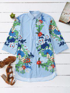 Chemise à Rayures à Manches Courtes - Rayure L