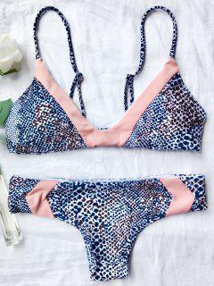 Traje De Bikini Sin Aros Con Estampado De Leopardo - Leopardo L