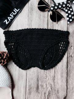 Bikini De Ganchillo De Bajo Cintura - Negro