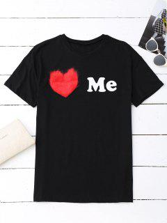 Love Me Graphic Oversized Tee - Black S