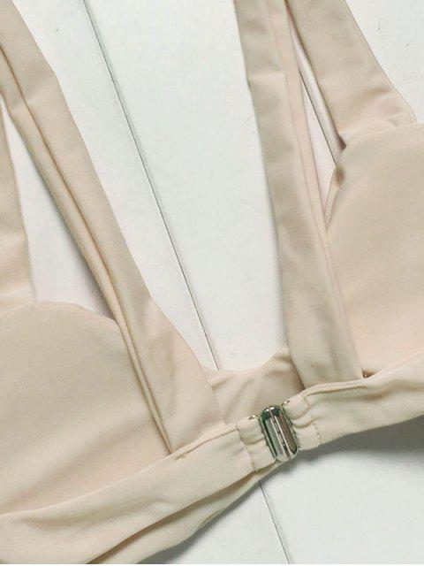 women's Spaghetti Straps Striped Bikini Set - COLORMIX M Mobile
