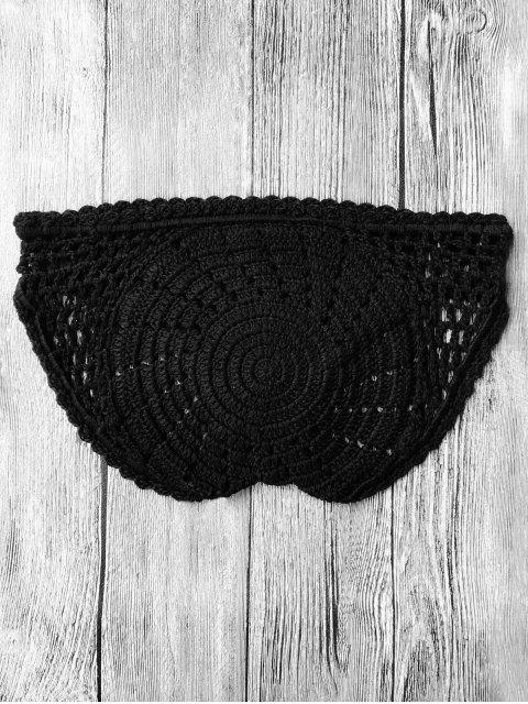 Bottines en bikini basse taille crochet - Noir TAILLE MOYENNE Mobile