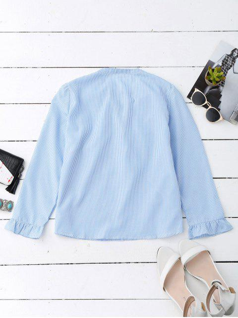 Blouson Poplin Ruffle en dentelle - Bleu et Blanc L Mobile