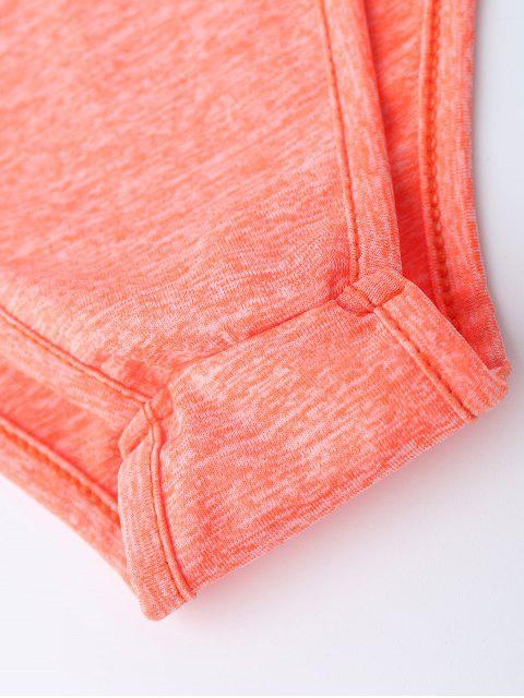 unique Lace Up Plunge Neck Monokini - JACINTH XL Mobile