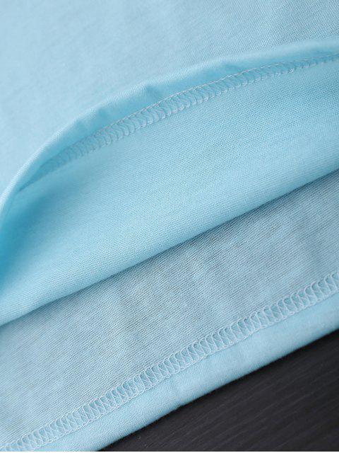 Tissu décoratif graphique pour imprimé de palmier - Azur M Mobile