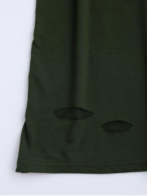 outfit Army Cut Out T-Shirt Dress - ARMY GREEN XL Mobile