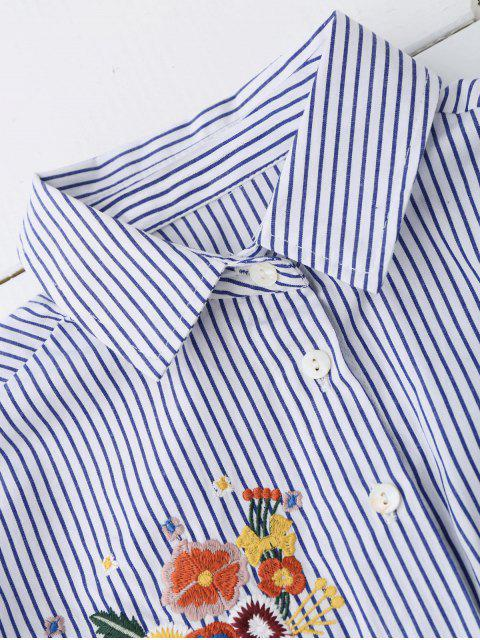Chemise rayée brodée à bas prix - Rayure S Mobile