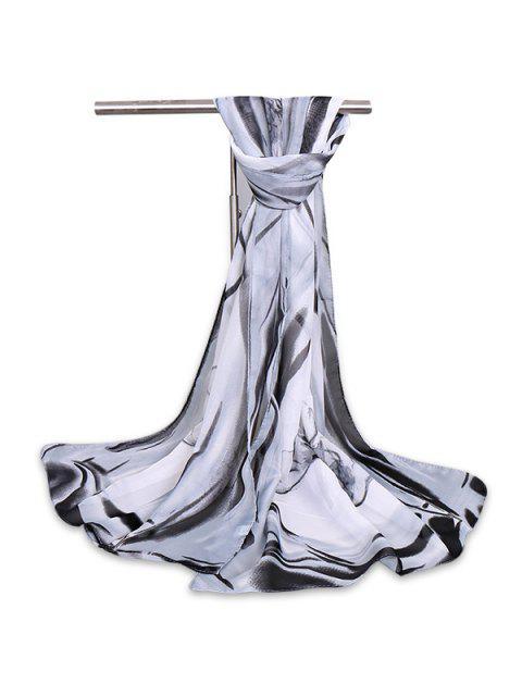 La acuarela del vintage florece la bufanda del mantón de la gasa de la gasa - Gris  Mobile
