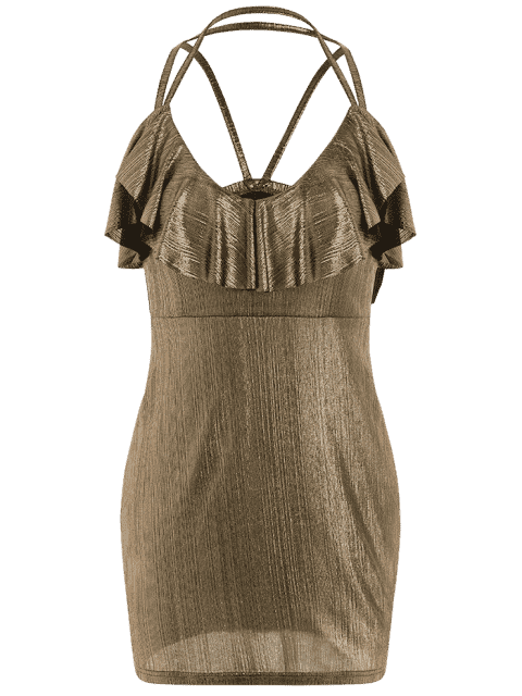 Robe Ruffles Strappy Club - Or S Mobile
