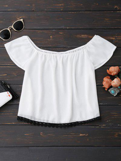 Chiffon Off Shoulder Cropped Top
