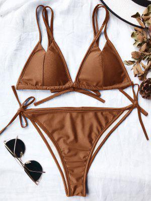 Ensemble De Bikini Paddé à Bretelle Spaghetti Découpé Haut - Ral1017 Jaune Foncé S