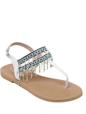 Fransen Geometrische Muster Perlen Sandalen