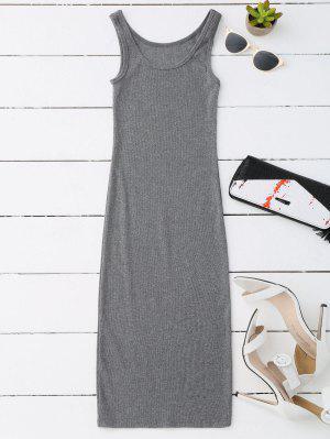 Midi Vestido Ceñido De Brasier - Gris