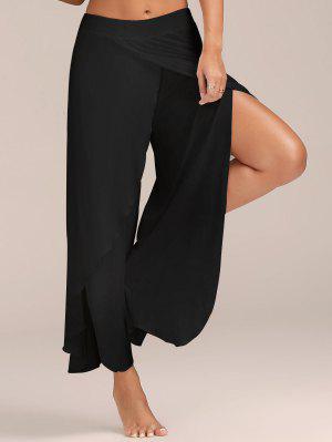 Pantalones De Pierna Ancha - Negro Xl