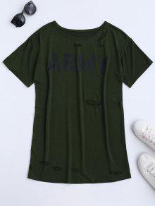 Robe à Manches Courtes Pour L'armée - Vert Armée Xl