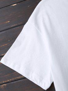 345a79c26089 20% OFF] 2019 Faux Fur Bird Oversized Tee In WHITE | ZAFUL