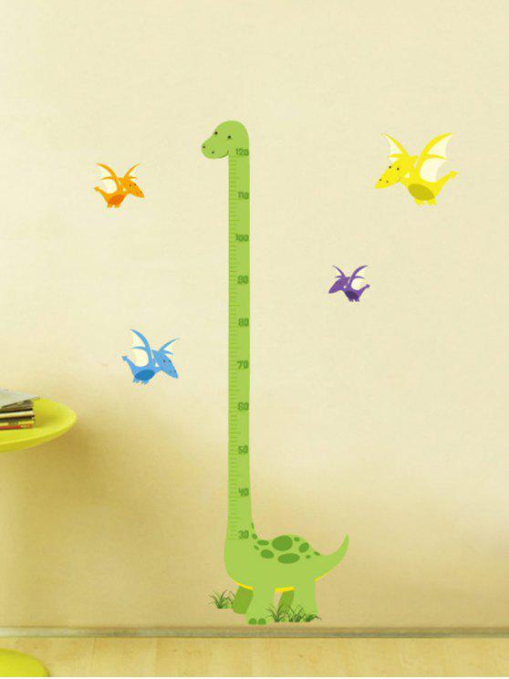 الكرتون الديناصور قياس ارتفاع حاكم الجدار ملصق - أخضر