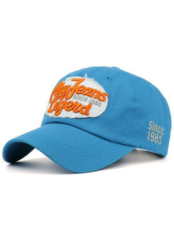 قبعة بيسبول شمسية مزينة بكتابة - أزرق