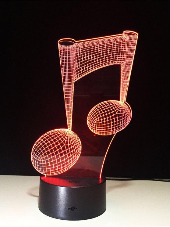 3D البصرية الموسيقى ملاحظة شكل اللون تغيير اللمس ليلة الخفيفة - شفاف