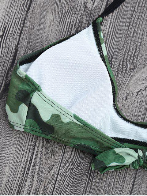 Ensemble de bikini à dos assortis - Camouflage L Mobile
