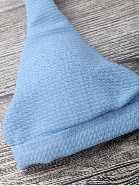 Bikini acolchado de cintura baja acolchado - Azul Claro S Mobile