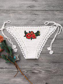 Mix And Match Crochet Thong Bikini Bottoms - Off-white