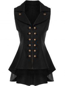 معطف الصدرية عالية انخفاض  - أسود M