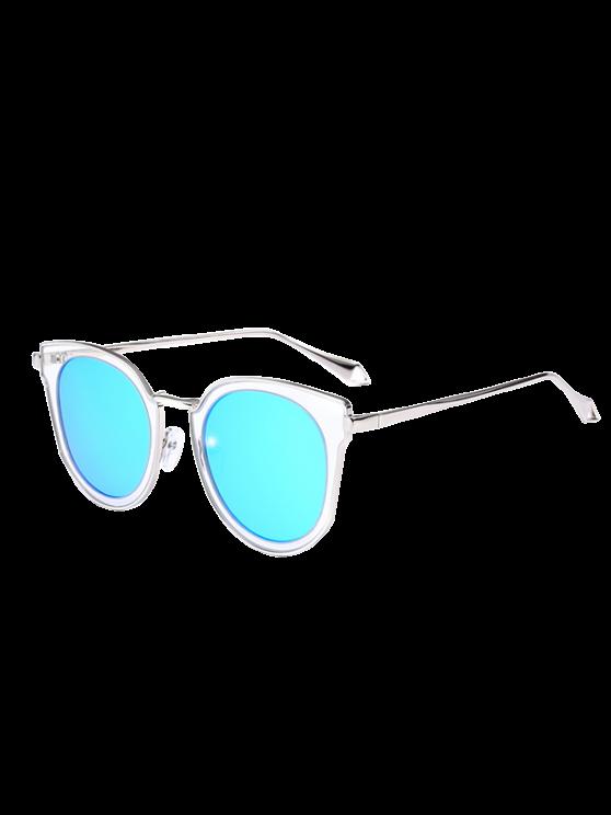 Lente Espelhada Lente Gato Óculos - Transparente + Azul